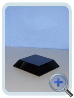 Zwart-Glazen Voetje 50x50mm