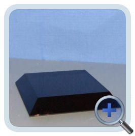 Zwart-Glazen Voetje 80x80mm